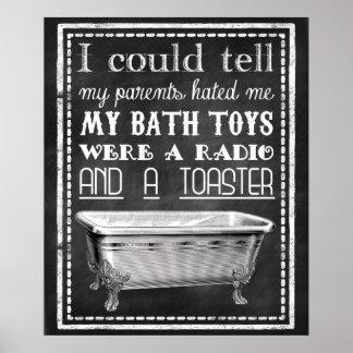 Chalkboard Funny Bathroom Poster