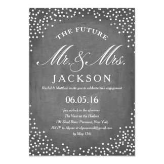 Chalkboard Future | Engagement Party Card
