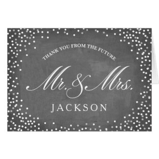 Chalkboard Future | Engagement Party Thank You Card