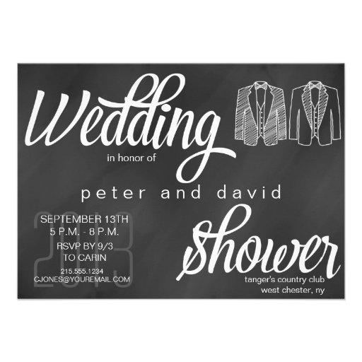 Gay Wedding Shower Invitations Chalkboard Gay Wedding Shower Invitation
