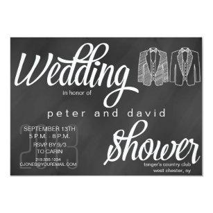 chalkboard gay wedding shower invitation