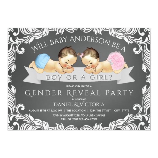 Chalkboard gender reveal baby shower invitations zazzle chalkboard gender reveal baby shower invitations filmwisefo
