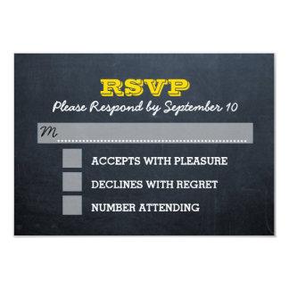 Chalkboard Gold Bar Mitzvah RSVP Card