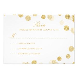 Chalkboard Gold Glitter RSVP Card