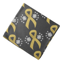 Chalkboard Gold Ribbon Bandana