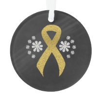 Chalkboard Gold Ribbon Ornament