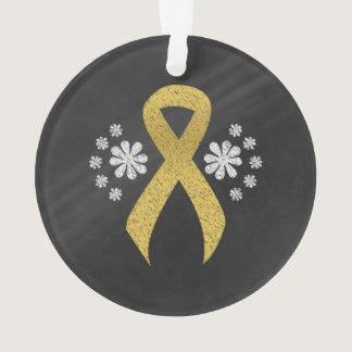 Chalkboard Gold Ribbon Ornament
