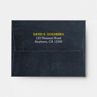 Chalkboard Gold Thank You Envelope