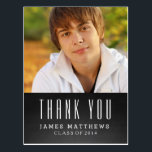 "CHALKBOARD GRAD | GRADUATION THANK YOU POSTCARD<br><div class=""desc"">CHALKBOARD GRAD 