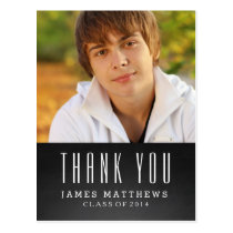 CHALKBOARD GRAD | GRADUATION THANK YOU POSTCARD