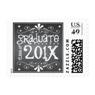 Chalkboard Graduate Class of 201x Custom Postage