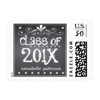 Chalkboard Graduate Class of 201x Personalized Postage
