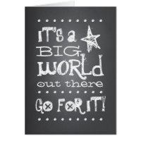 Chalkboard Graduate Go For It Congratulation Card