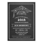 "Chalkboard Graduation Cap Party Invitation Photo 5"" X 7"" Invitation Card"
