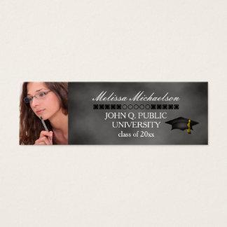 Chalkboard Graduation Class Photo Insert Name Card