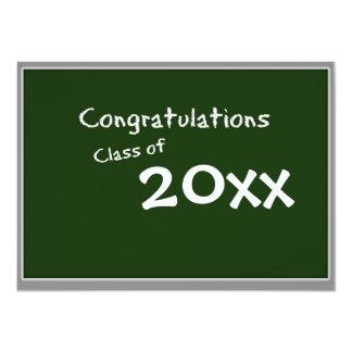 Chalkboard Graduation Invite