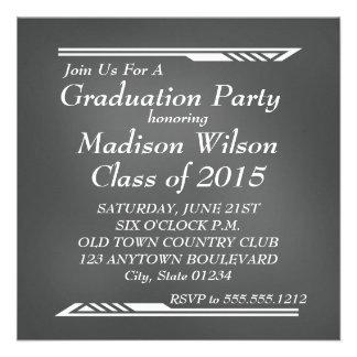 Chalkboard Graduation Invitations