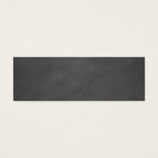 Chalkboard Gray Background Grey Chalk Board Black Mini Business Card