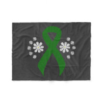 Chalkboard Green Awareness Ribbon Fleece Blanket