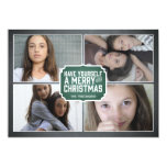 Chalkboard Green Framed Holiday Photo Card