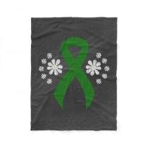 Chalkboard Green Ribbon Fleece Blanket