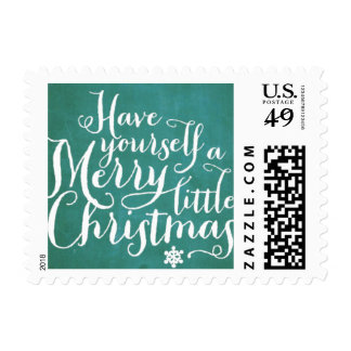 Chalkboard Green Script Postage Stamp