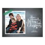 Chalkboard Green Washi Tape Script Holiday Card