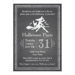 Chalkboard Halloween Witch Personalized Invitation