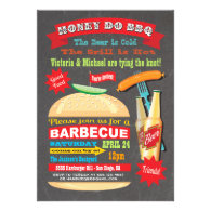 Chalkboard Hamburger Honey Do BBQ Invitation