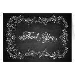 Chalkboard hand drawn foliage Thank You Note Card