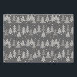 """Chalkboard Handdrawn Christmas Trees Snowing Wrapping Paper Sheets<br><div class=""""desc"""">Just the right amount of Christmas wrapping paper for one or two gifts. This year you can coordinate your Christmas gifts for family, close friends, or acquaintances. This artist-designed Christmas pattern is perfect to use for a Christmas party at home, but can also be used for a school or corporate...</div>"""