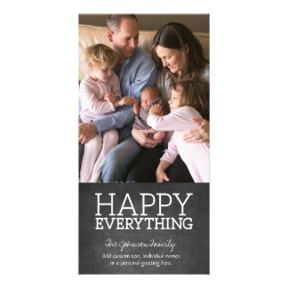 Chalkboard - Happy Everything One Vertical Photo Card