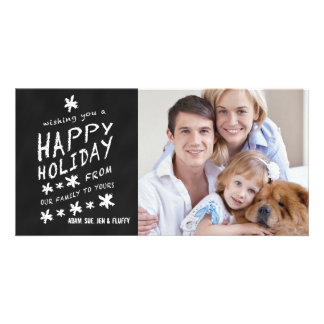 CHALKBOARD HAPPY HOLIDAY PHOTO CARD