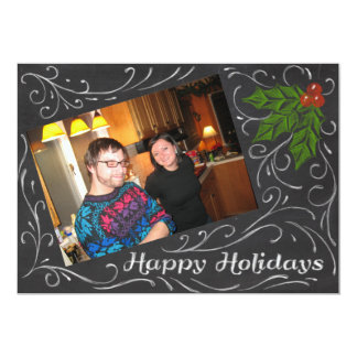 Chalkboard Happy Holidays Card