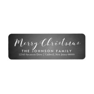 Chalkboard Happy Holidays   Christmas Label