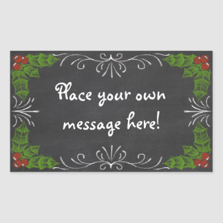 Chalkboard Happy Holidays Rectangular Sticker