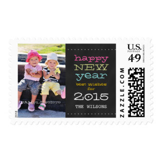 Chalkboard Happy New Year 2015 Holiday Postage