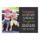 Chalkboard Happy New Year 2016 Holiday Photo Card
