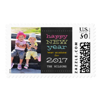 Chalkboard Happy New Year 2017 Holiday Postage