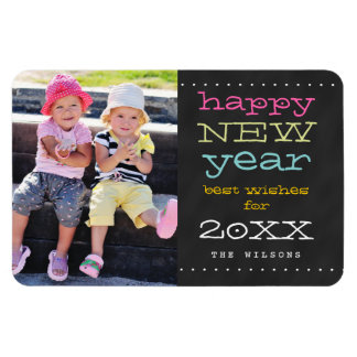 Chalkboard Happy New Year Holiday Magnet