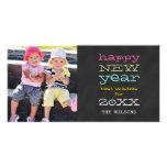 Chalkboard Happy New Year | Holiday Photo Card