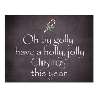 Chalkboard: Have a Holly Jolly Christmas Postcard