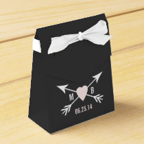 Chalkboard Heart   Arrow Favor Box