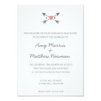 Chalkboard Heart + Arrows | Wedding Invitations