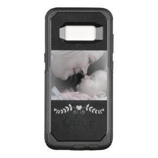 Chalkboard Heart Photo Template OtterBox Commuter Samsung Galaxy S8 Case