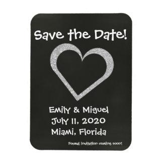 Chalkboard Heart Save the Date Wedding Magnet