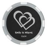 Chalkboard Heart Wedding Poker Chips Favor