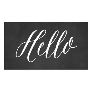 Chalkboard Hello   Business Cards