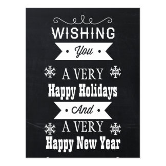 chalkboard Holiday cards Post Card
