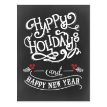 chalkboard Holiday Corporate PostCard